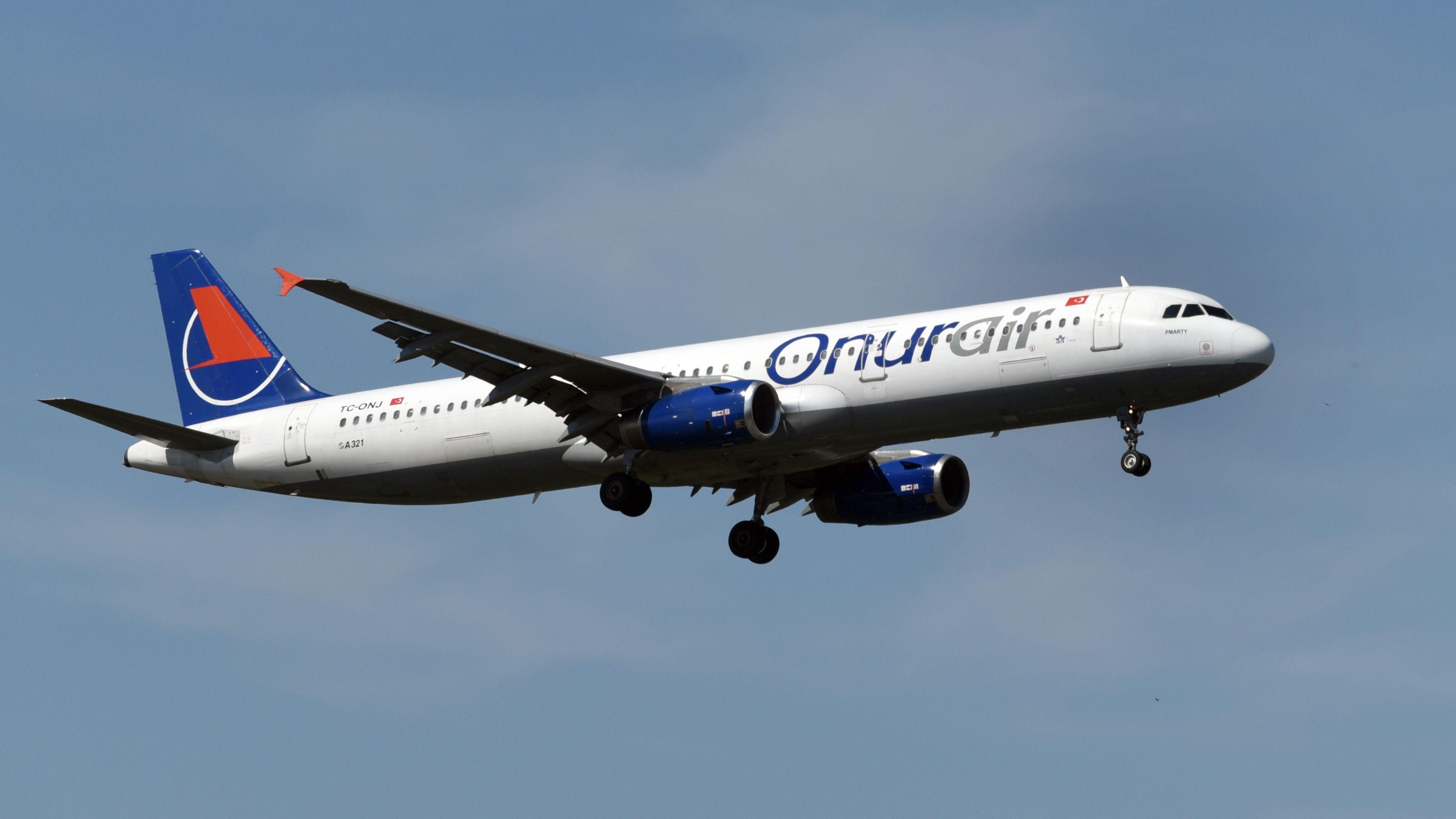 Flugzeug der türkischen Fluggesellschaft Onur Air (Symbolbild)