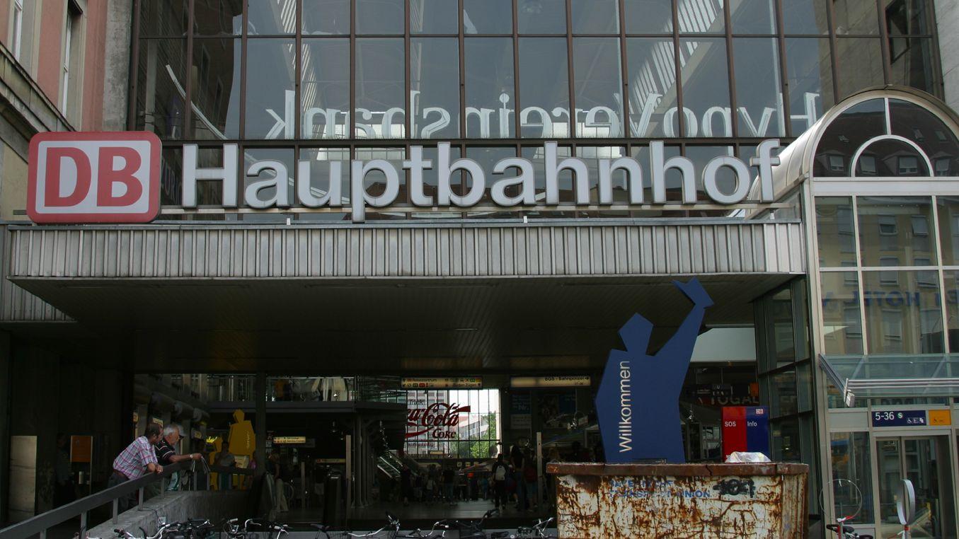 Eingang am Hauptbahnhof München.