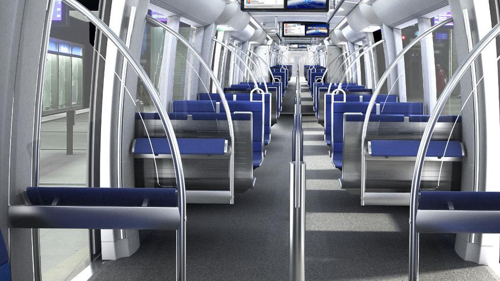 Leere U-Bahn.