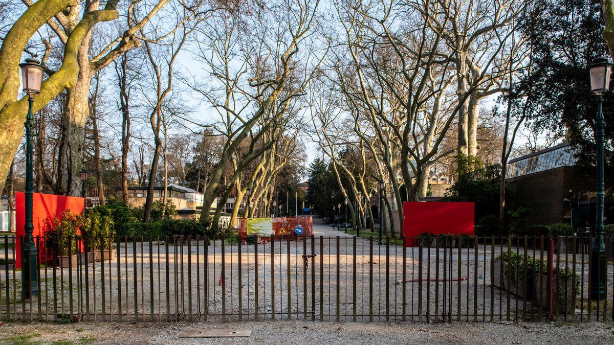 geschlossenes Veranstaltungsgelände der Biennale in Venedig 2020