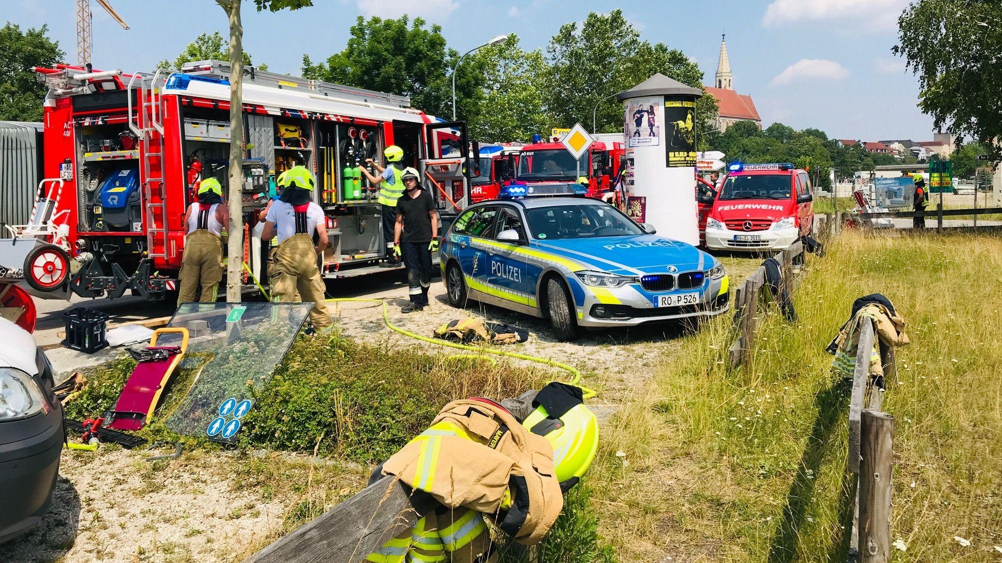 Zahlreiche Rettungskräfte waren in Neuötting im Einsatz