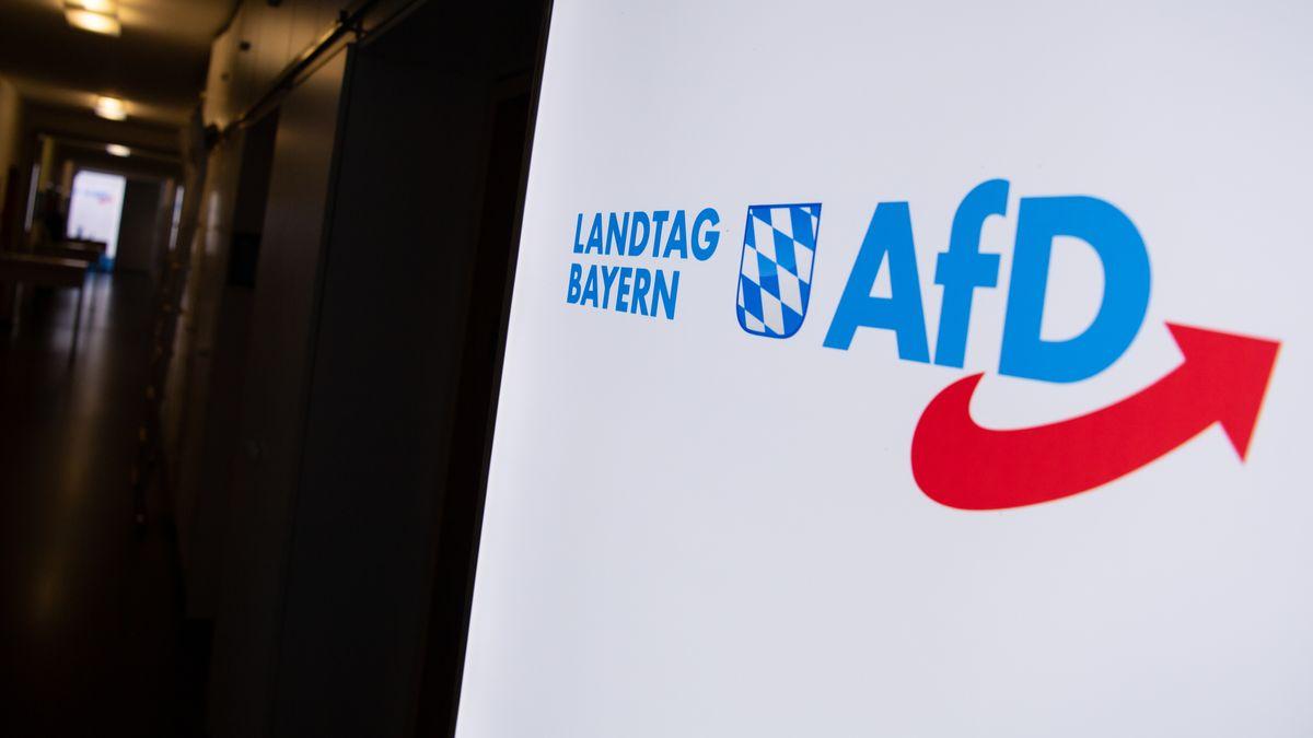AfD-Logo im Landtag