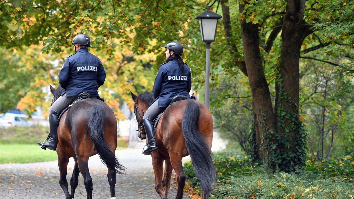 Zwei berittene Polizisten (Symbolbild)