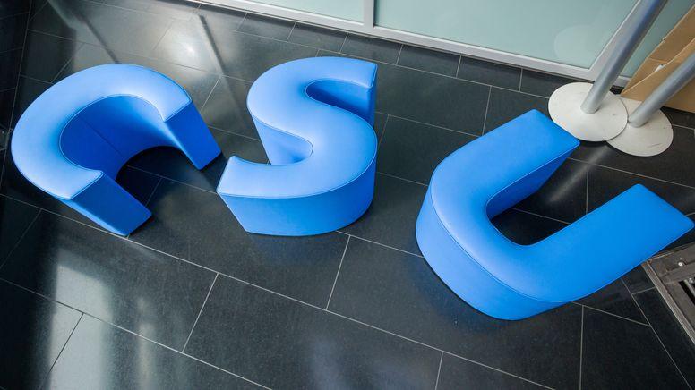 Das CSU-Logo, aufgenommen im Vorraum der Parteizentrale der Partei CSU. | Bild:picture alliance/dpa | Peter Kneffel