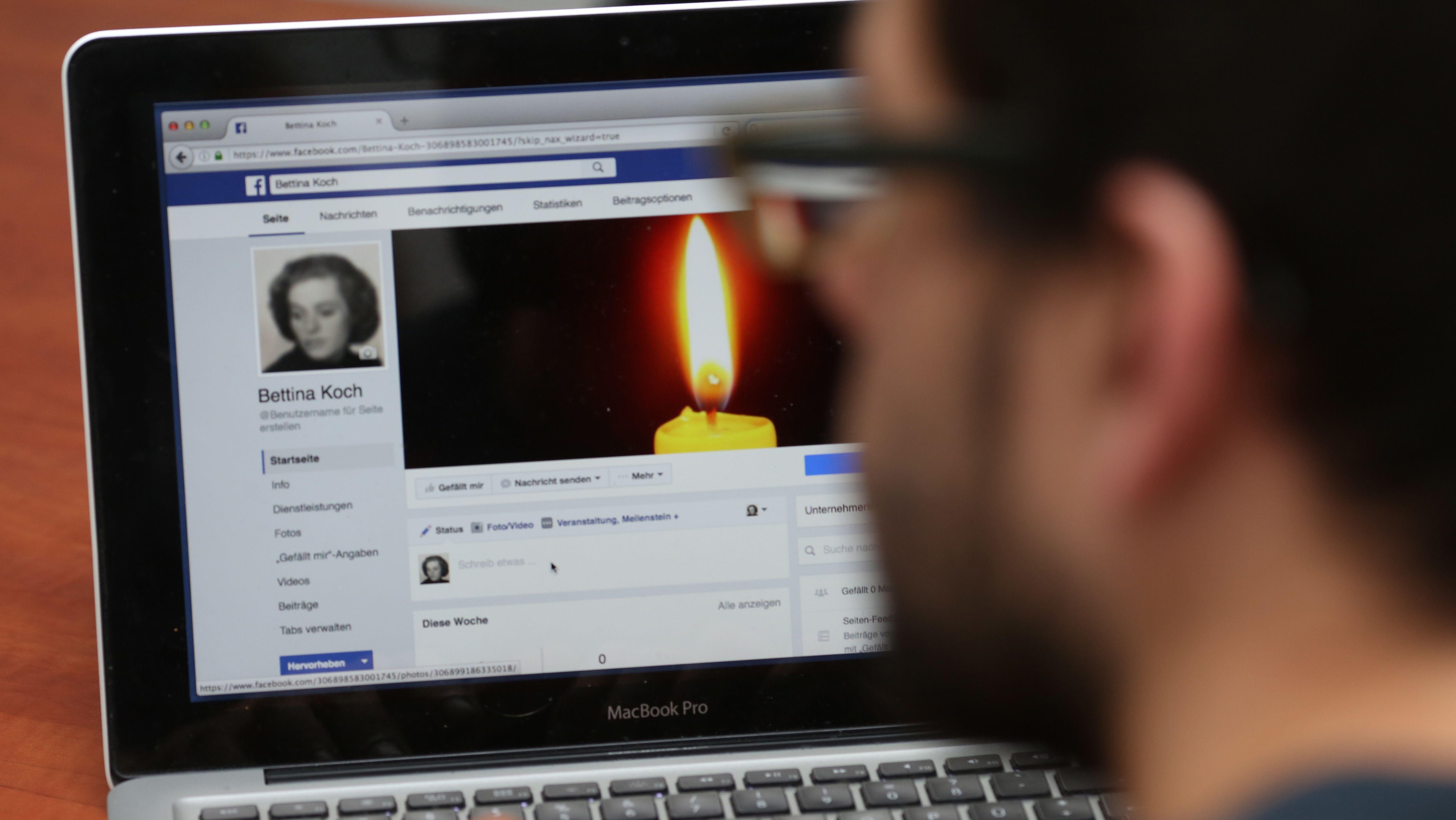 Gedenkzustand Facebook