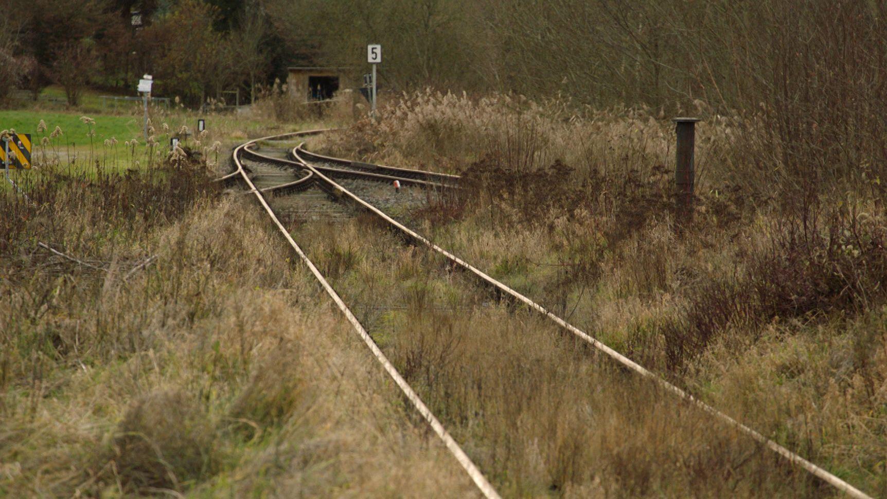 Gleise der Staudenbahn im Landkreis Augsburg