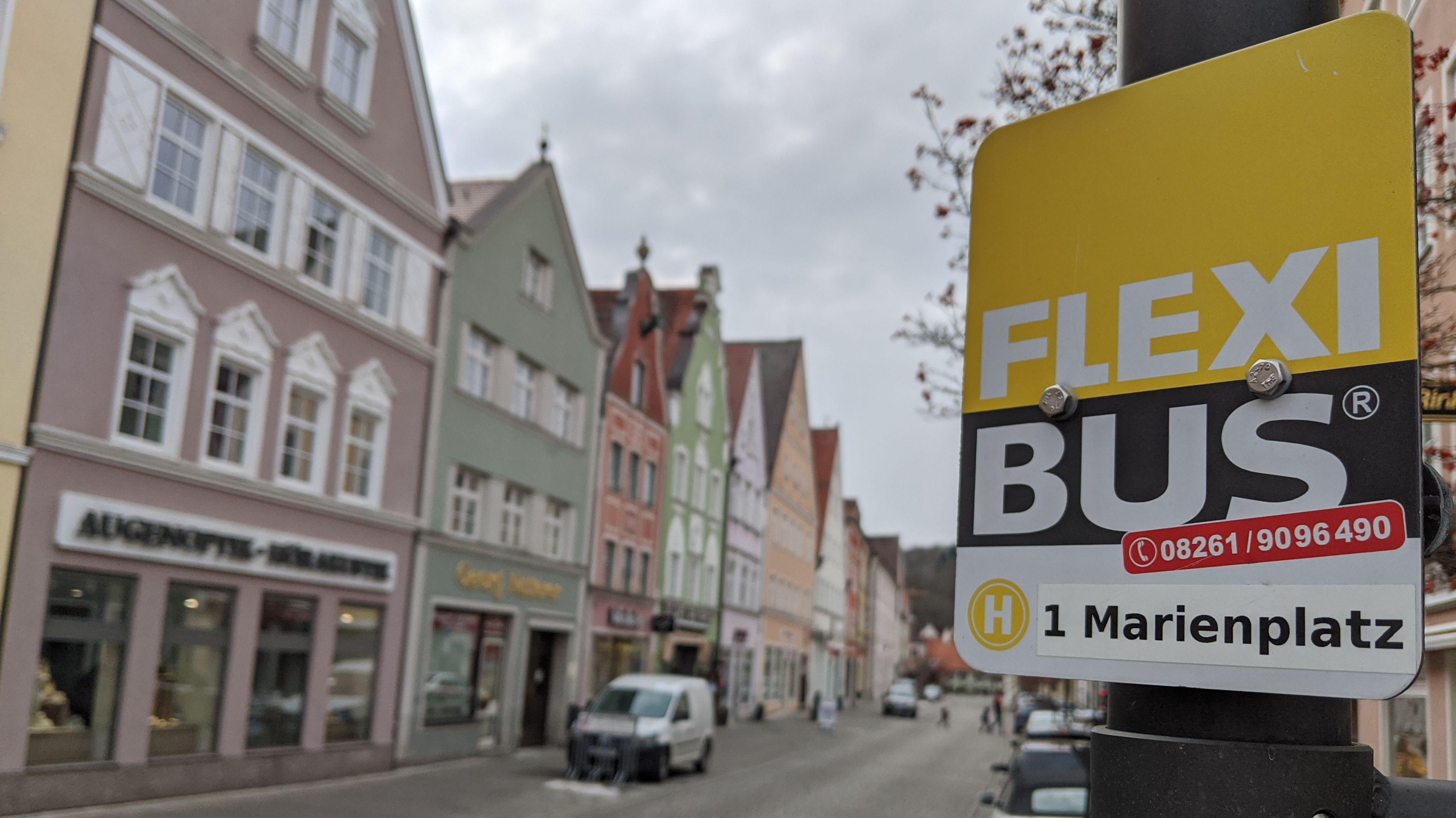 Flexibus-Haltestelle in Mindelheim