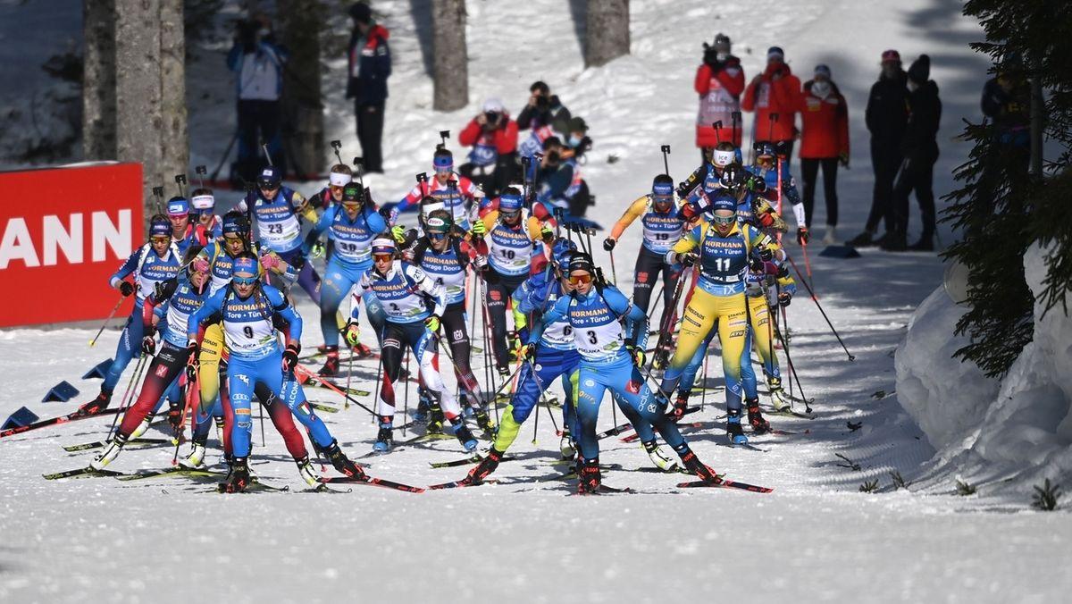Biathlon, Massenstart der Frauen in Pokljuka