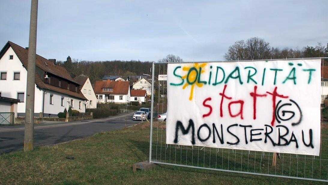 Protest gegen Hochregallager in Ebern