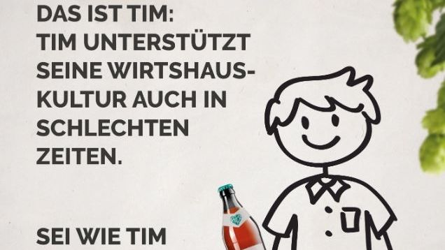 Mit Bildern wie diesen wirbt die Initiative Wirtshaushelden auf Facebook um Unterstützung für die Bayreuther Gastronomie.