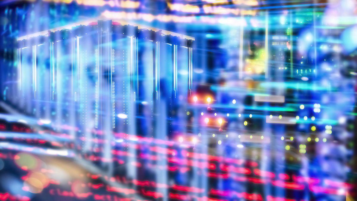 Abstrakte Darstellung von Computercode