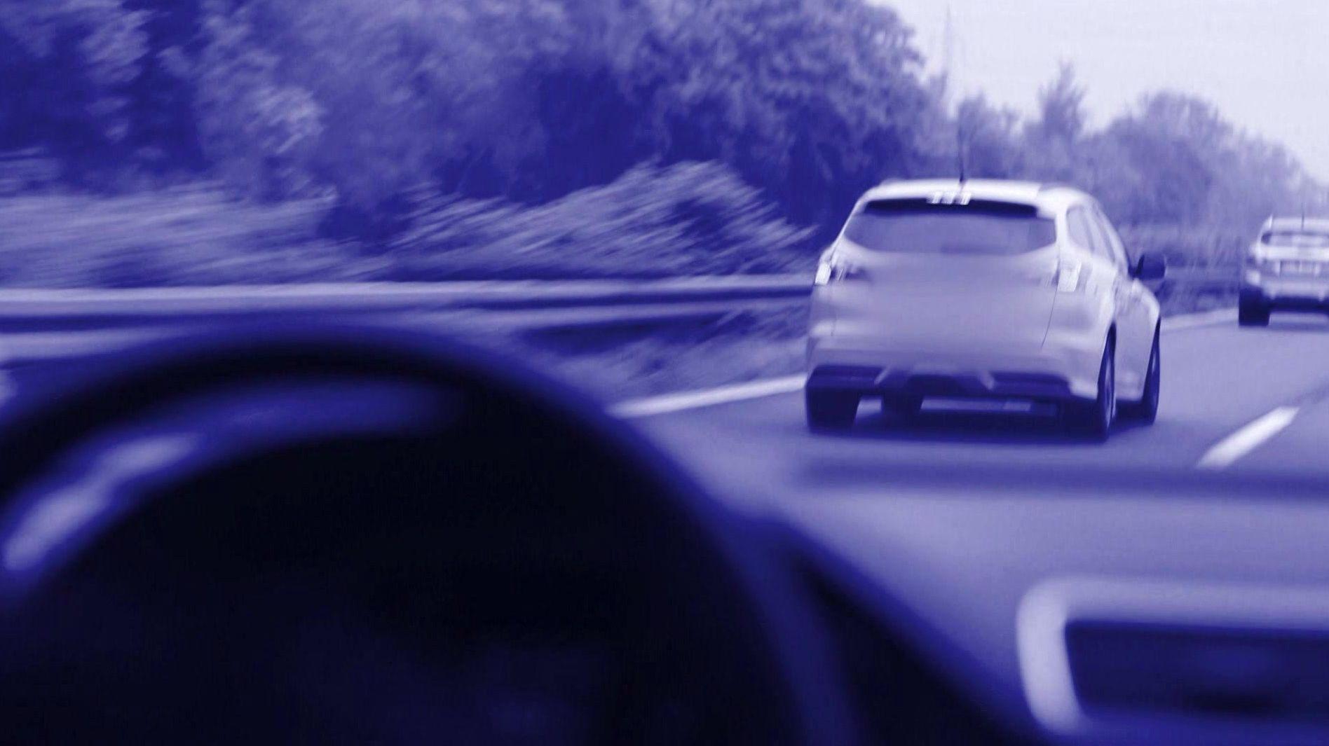 Szene auf der Autobahn