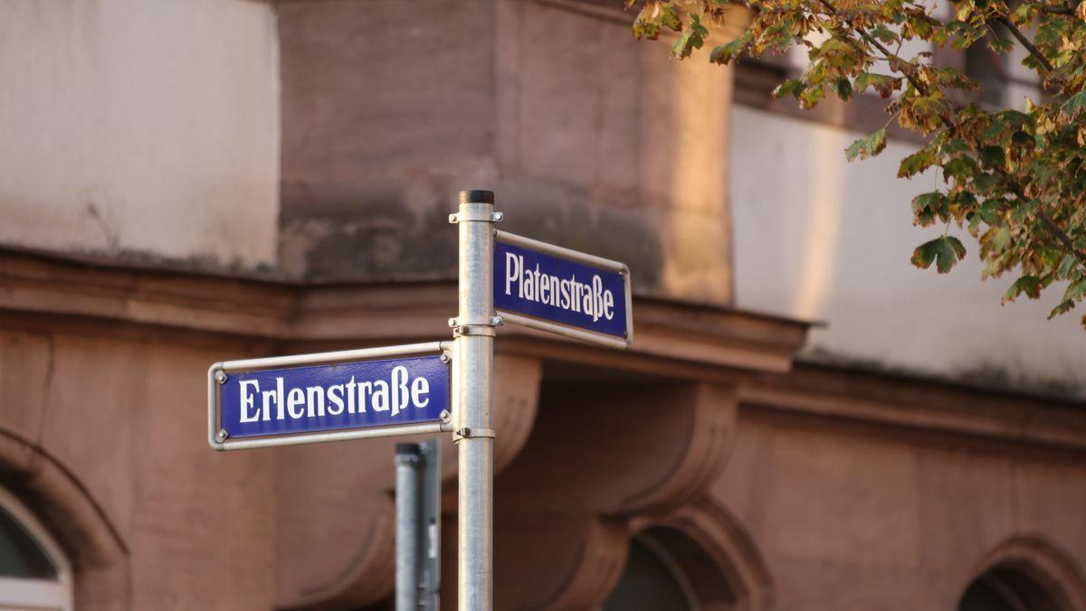 Straßenschild in der Nürnberger Südstadt
