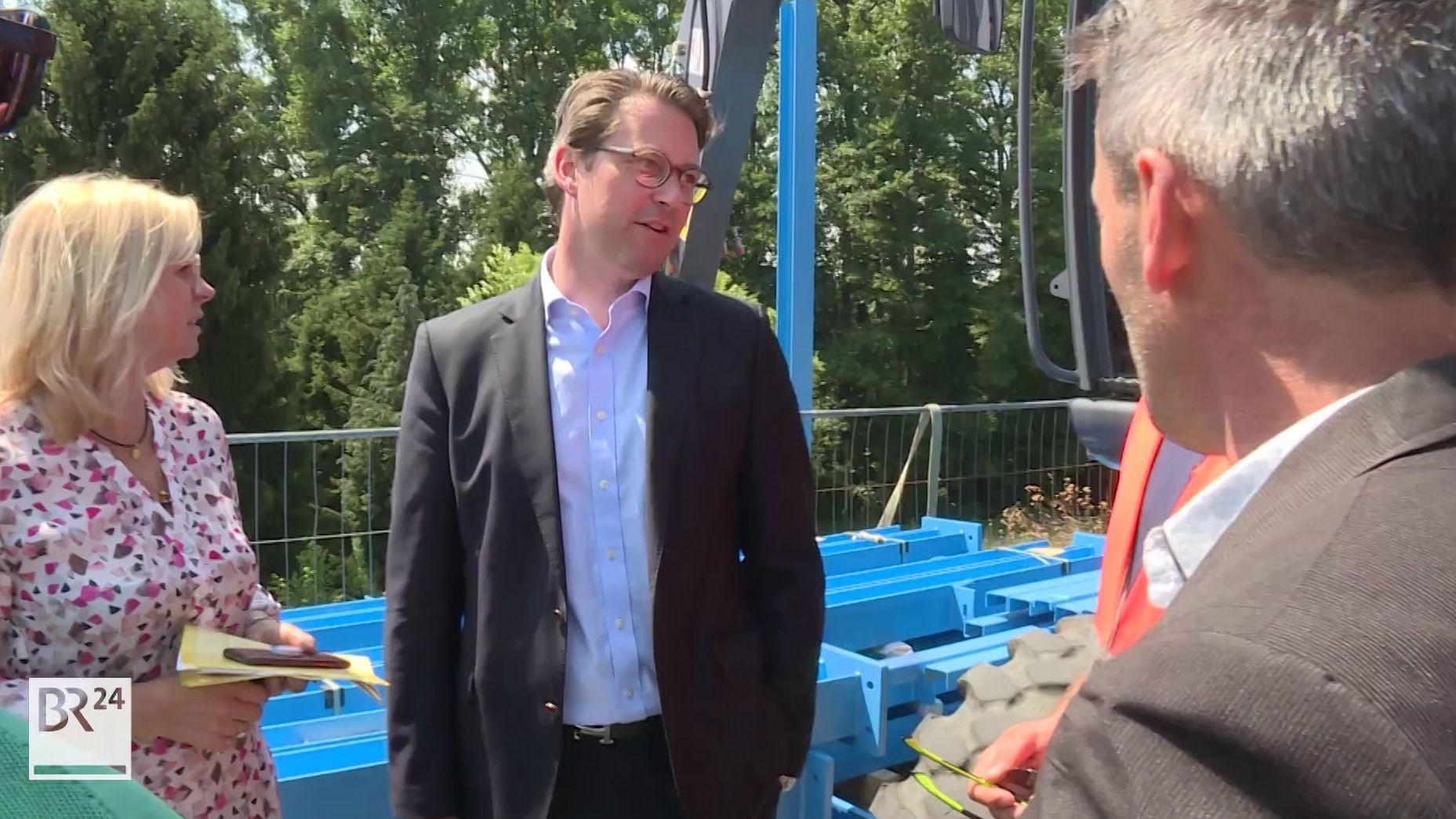 Bundesverkehrsminister Andreas Scheuer besucht Hösbach.