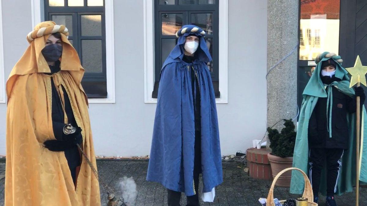 Sternsinger in Buchhofen mit Mundschutz und Mindestabstand