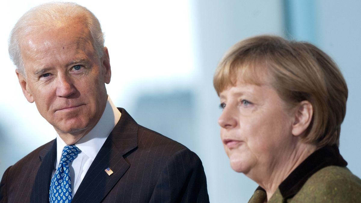 Joe Biden bei Bundeskanzlerin Merkel