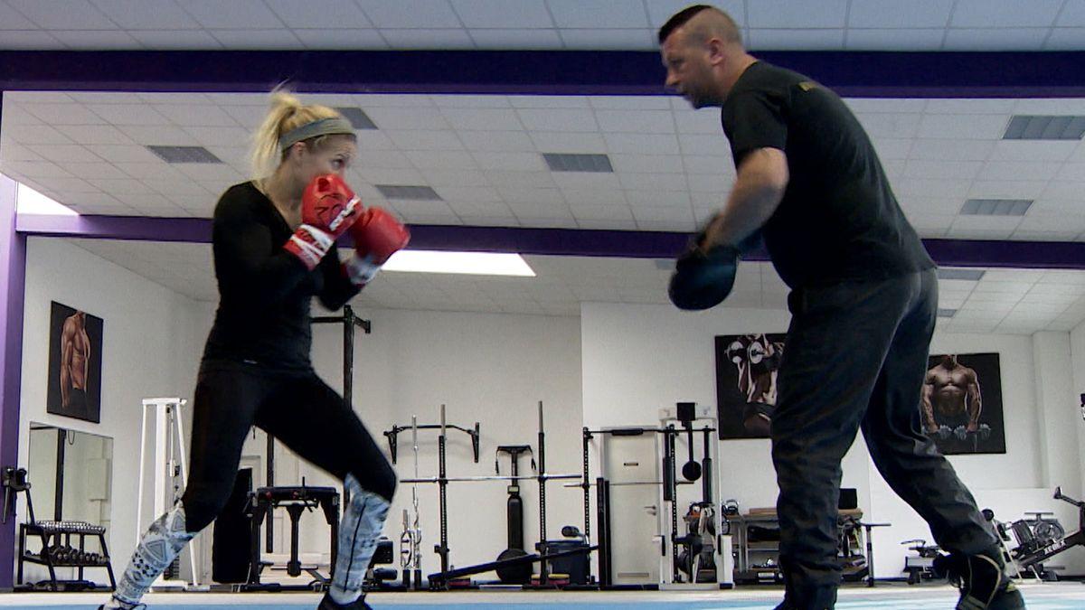 Boxerin Tina Rupprecht beim Training
