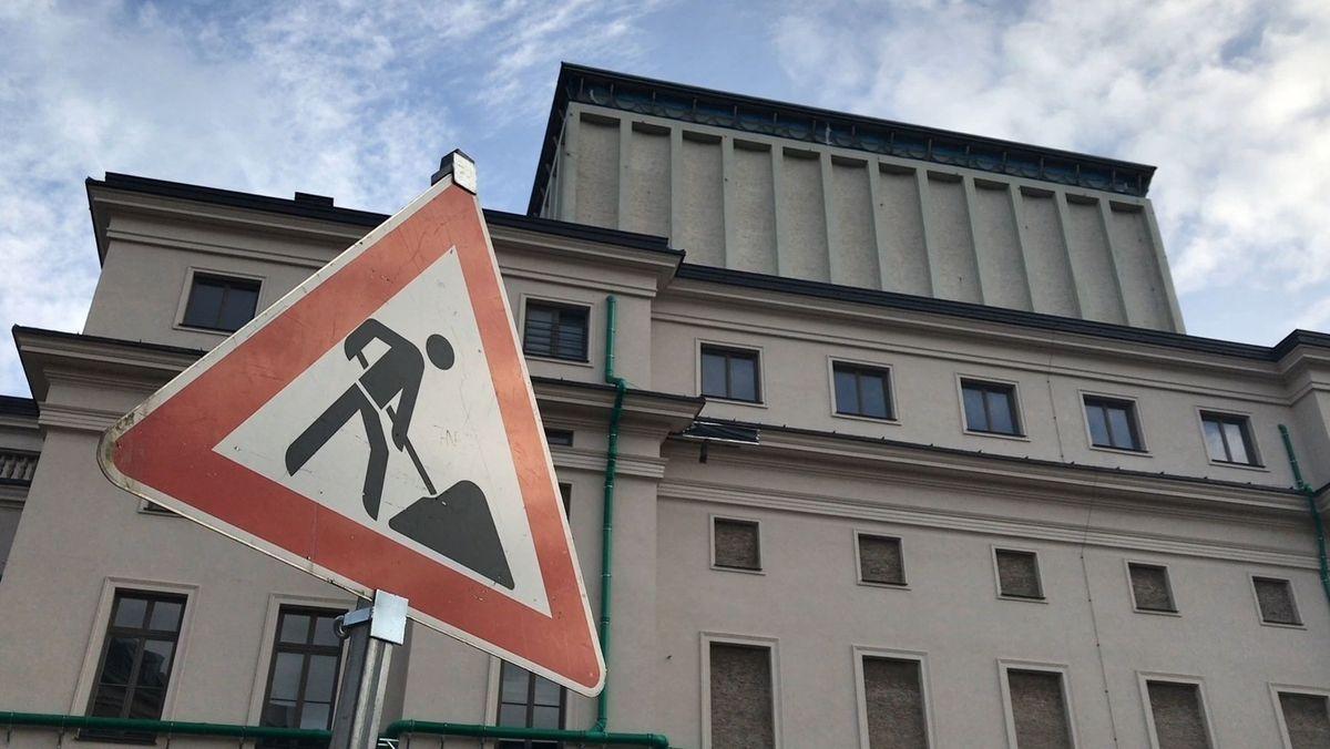 Baustelle am Augsburger Staatstheater