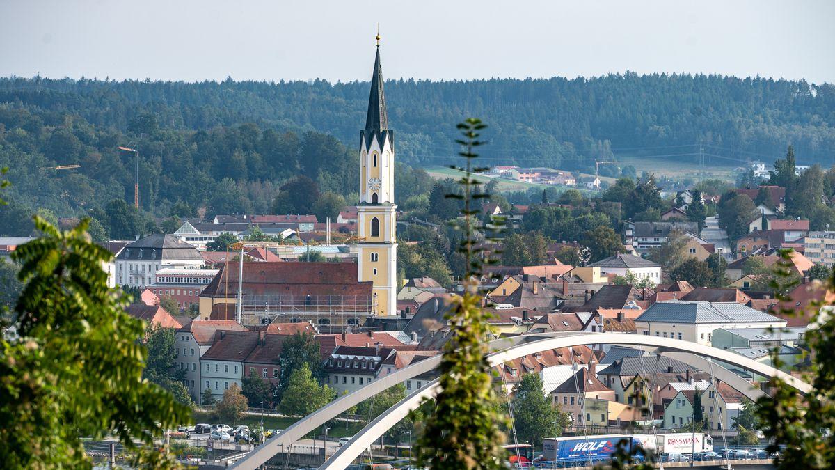 Blick auf Vilshofen an der Donau