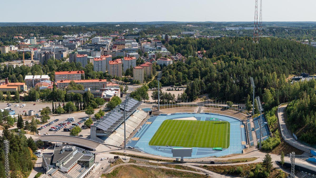 Blick auf das finnische Lahti.