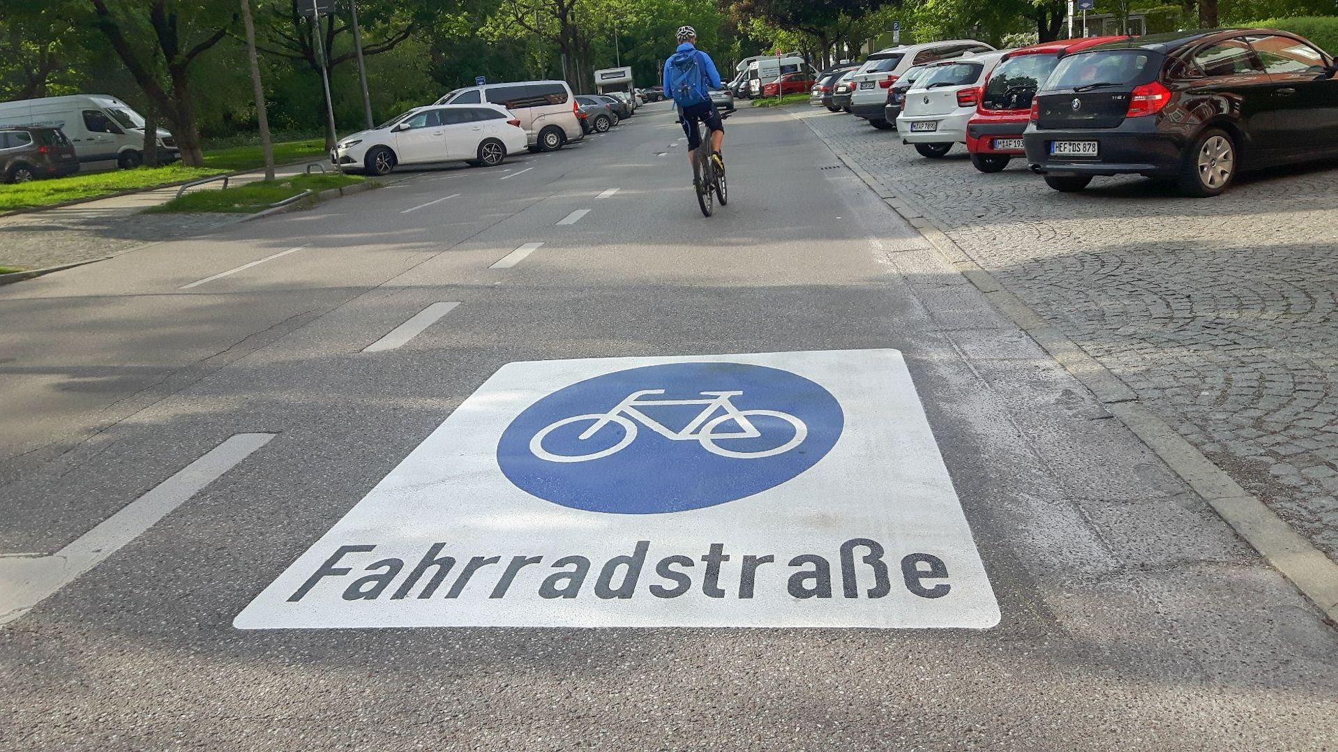Nicht immer gibt es freie Fahrt für Radler in München