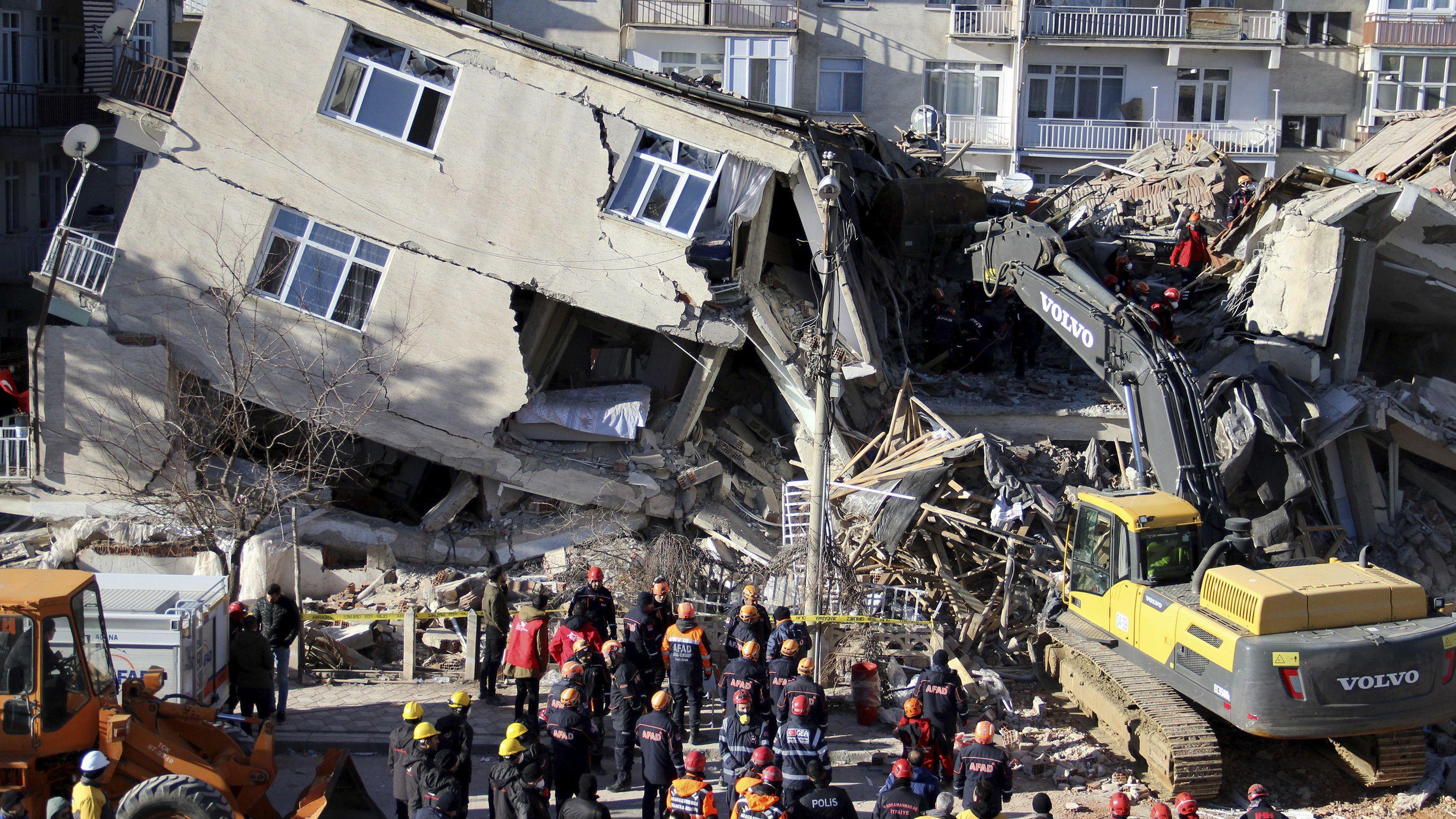 Folgen des Erdbebens in der Türkei