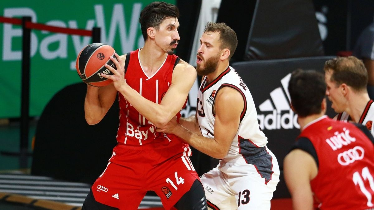 Spielszene FC Bayern Basketball - Olimpia Mailand
