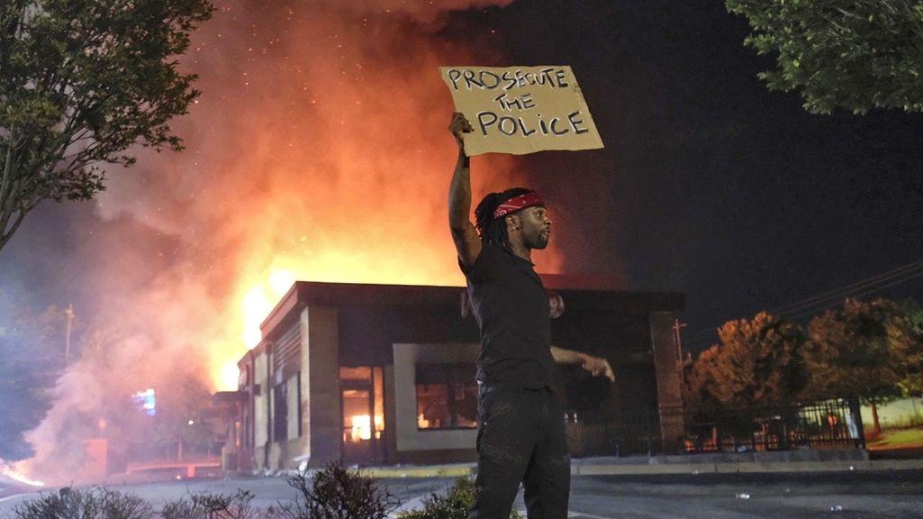 Proteste gegen Rassismus in Atlanta, USA