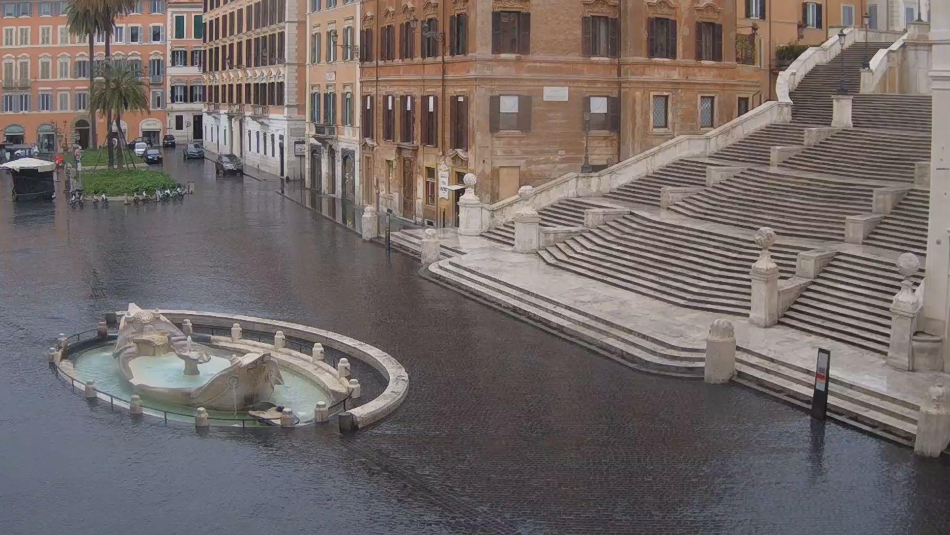 Spanische Treppe in Rom.
