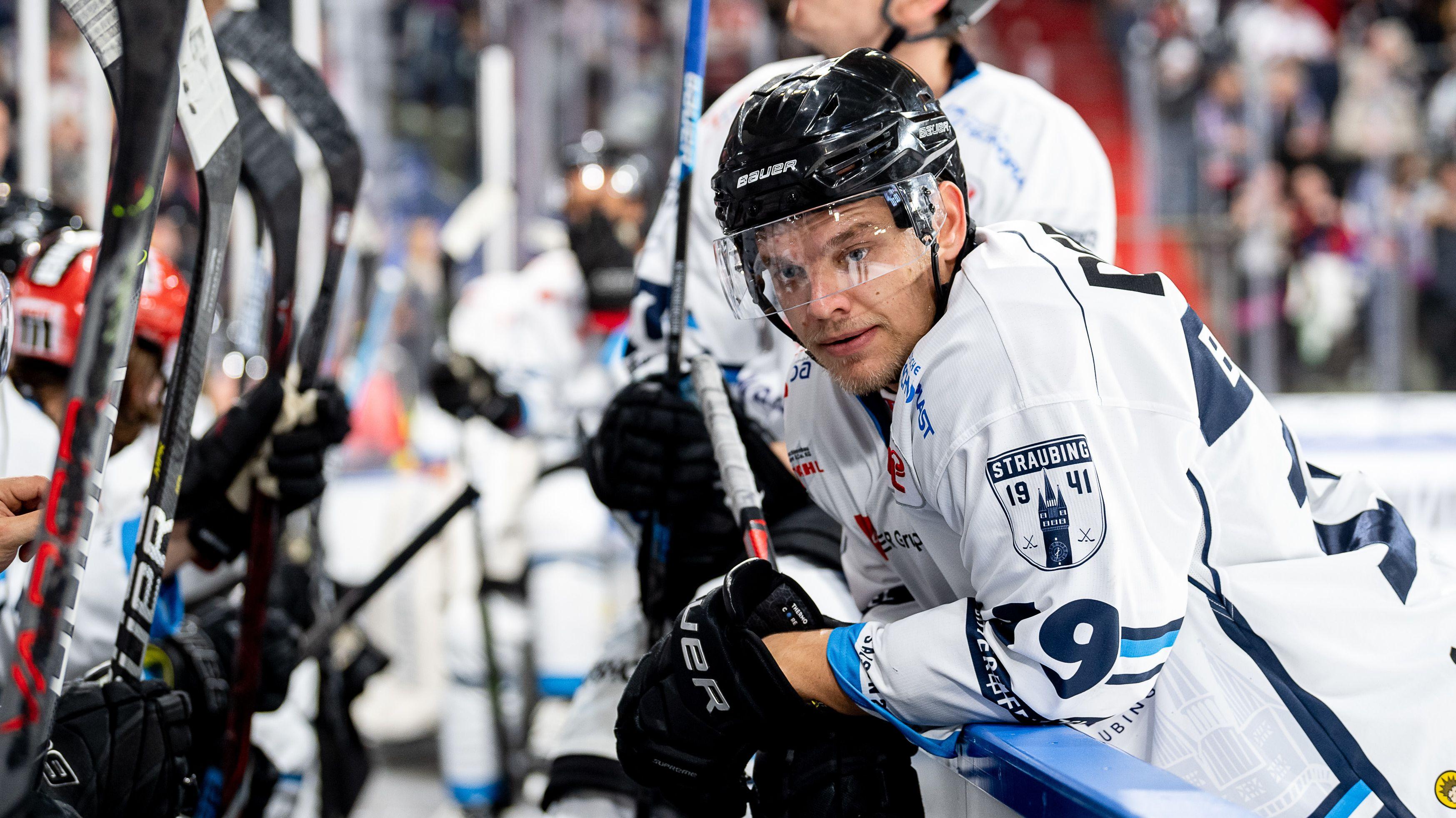 Der Straubinger Eishockeyspieler Tim Brunnhuber