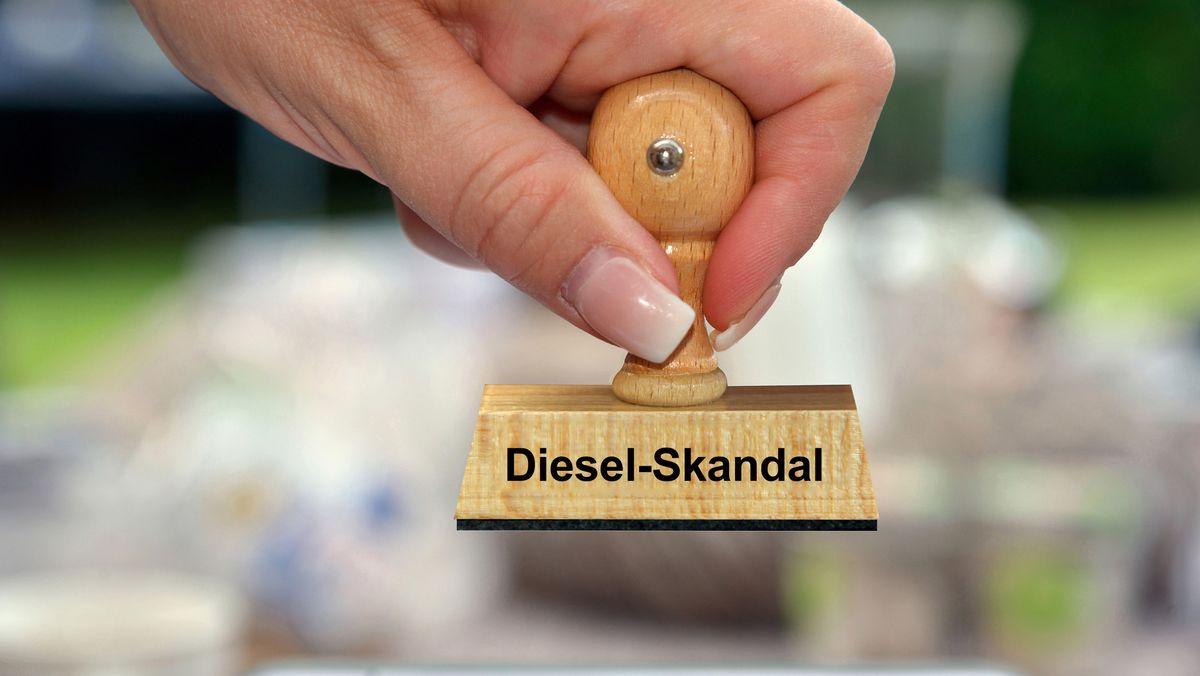 """Stempel mit Aufdruck """"Diesel-Skandal"""""""