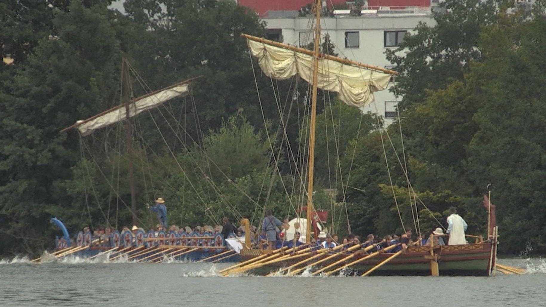 Römerschiffe auf der Donau