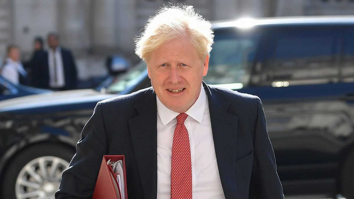 Boris Johnson, Premierminister von Großbritannien, trifft nach der Sommerpause im Außenministerium zu einer Kabinettssitzung ein (1.9.20).