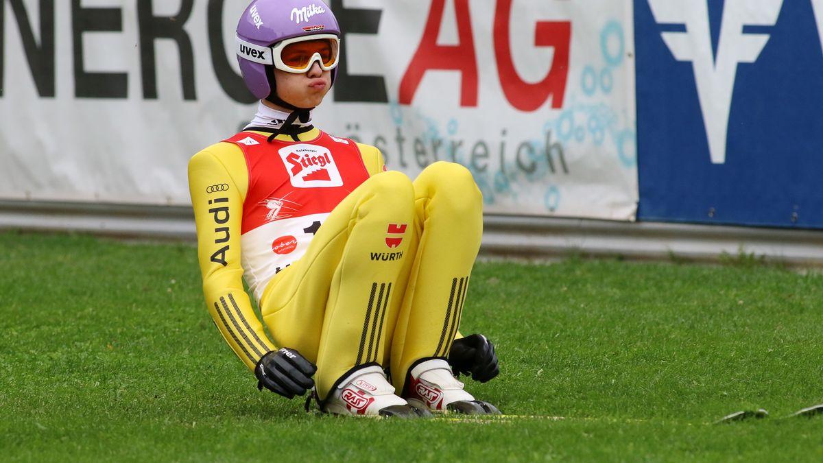Andreas Wellinger beim Sommer Grand Prix der Skispringer in Hinzenbach (2017)