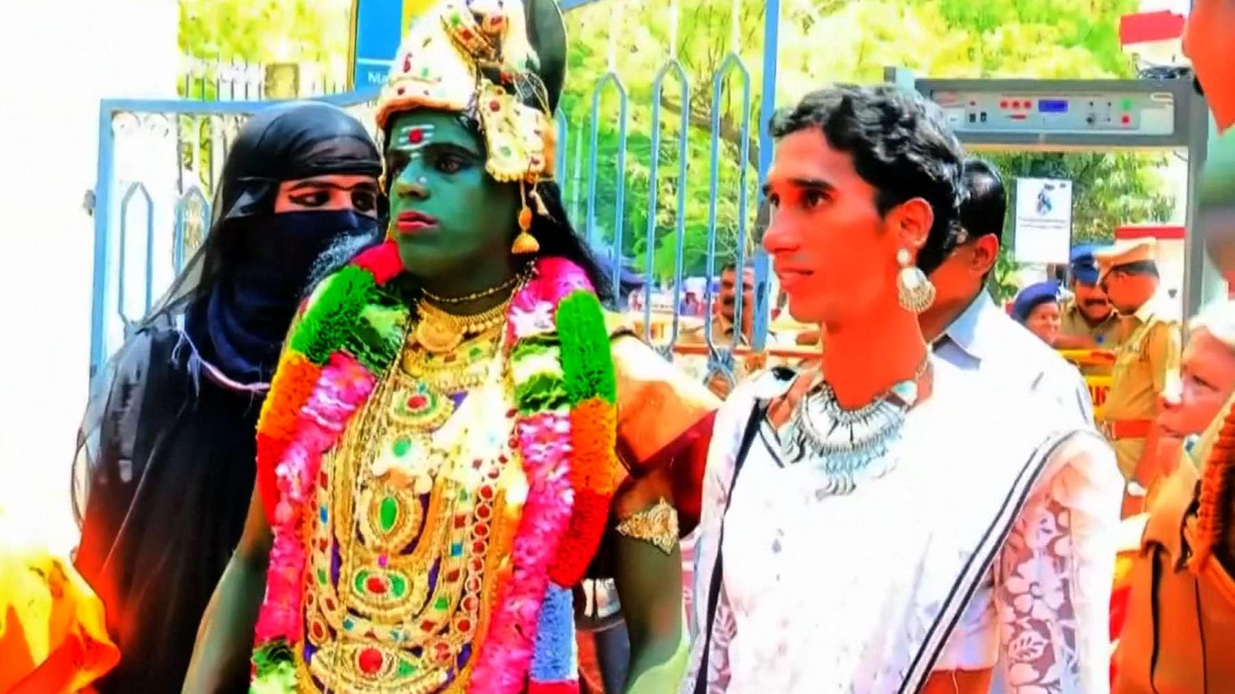 Transgender Kandidatin in Indien