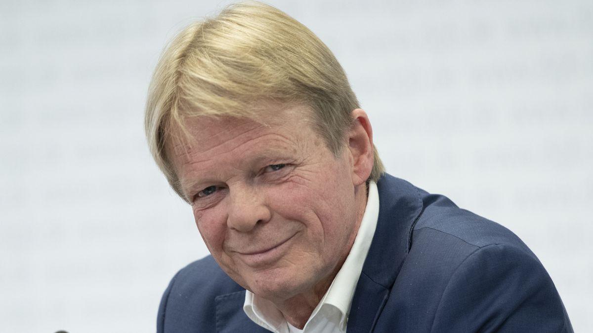 DGB-Chef Reiner Hoffmann bei einer Pressekonferenz