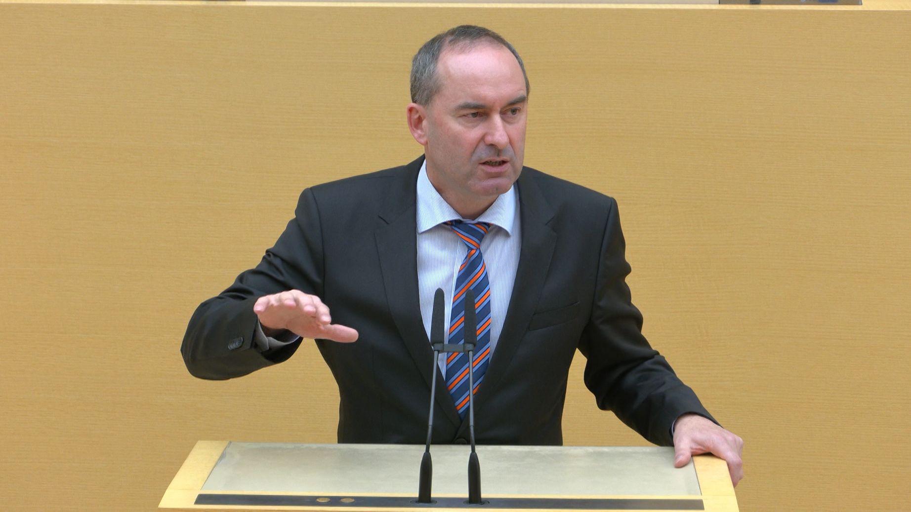 Hubert Aiwanger im bayerischen Landtag