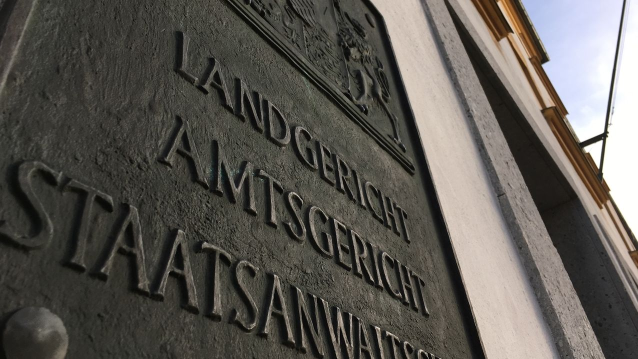 Schild am Landgericht Kempten