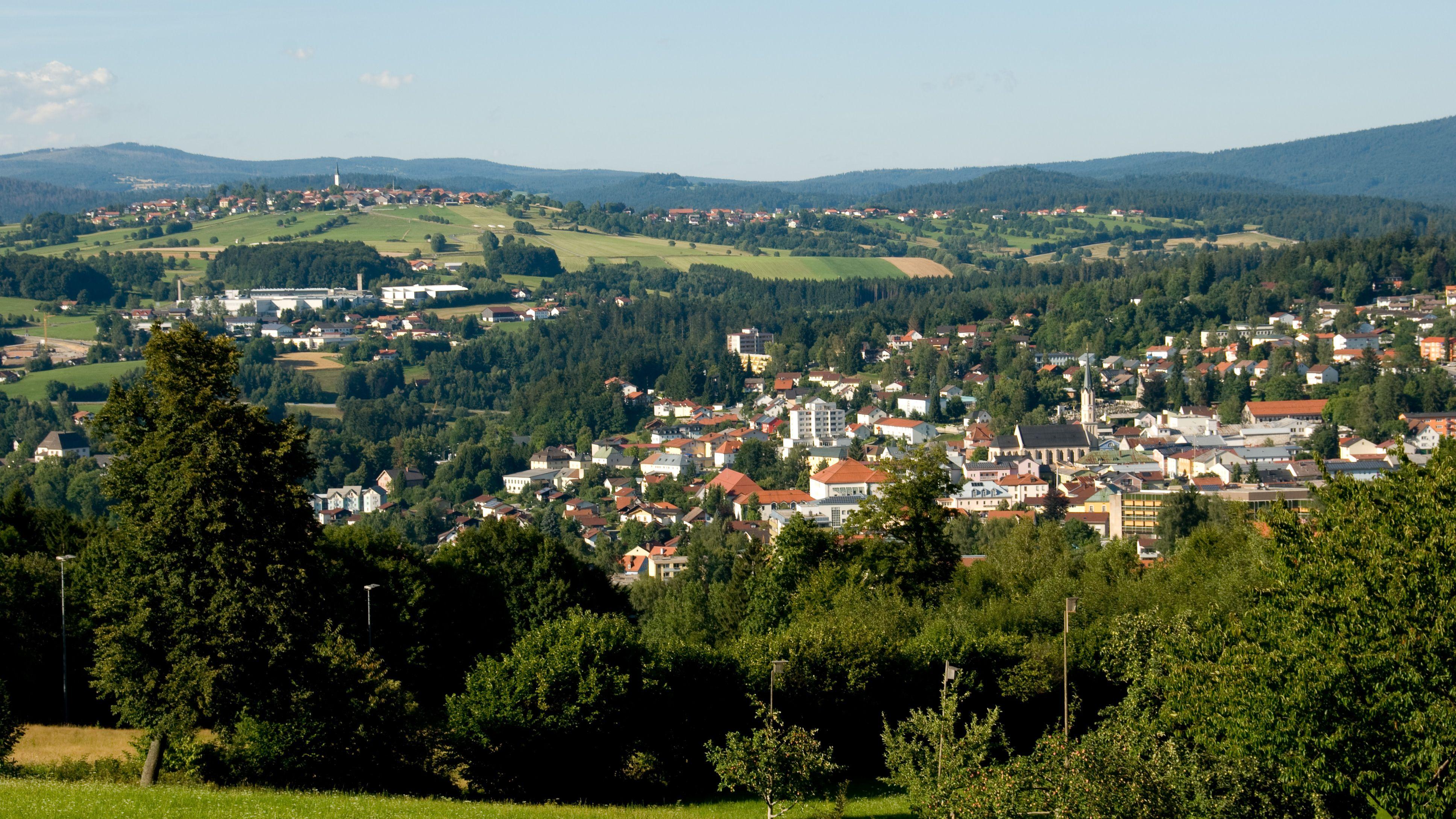 Blick auf Freyung im Bayerischen Wald