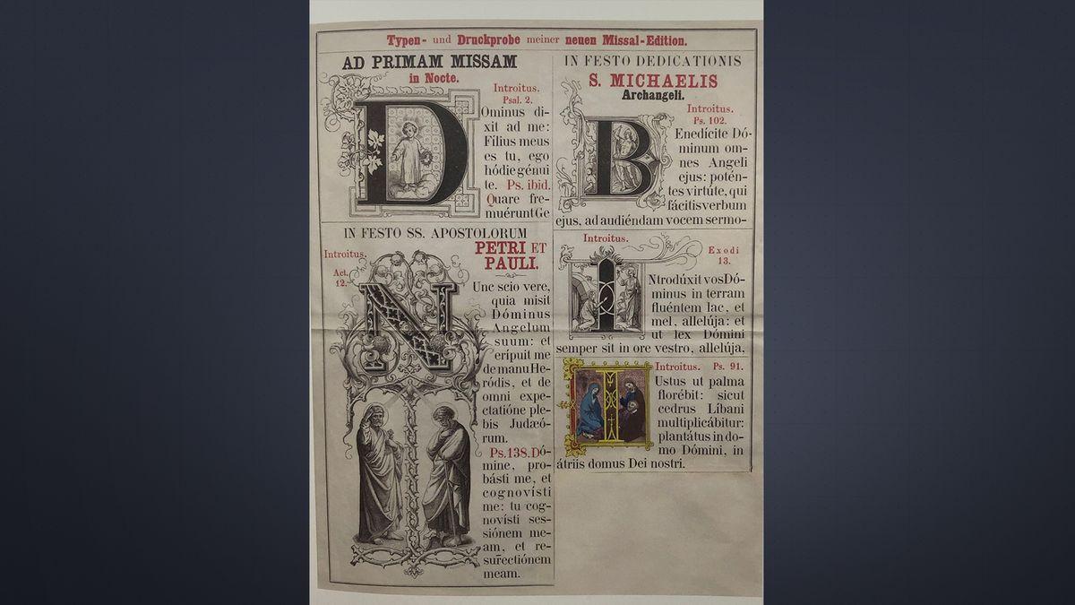Andere Verlage mussten sich nach der Typografie des Verlags Pustet richten.