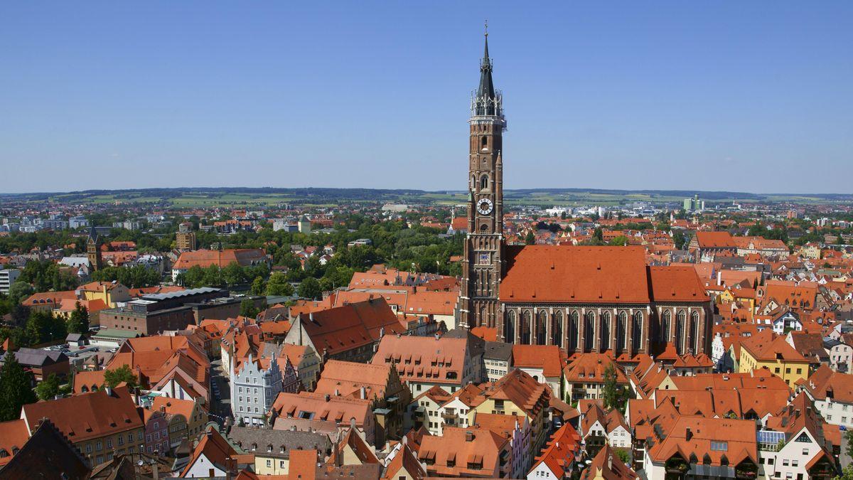 Die Stadt Landshut von oben
