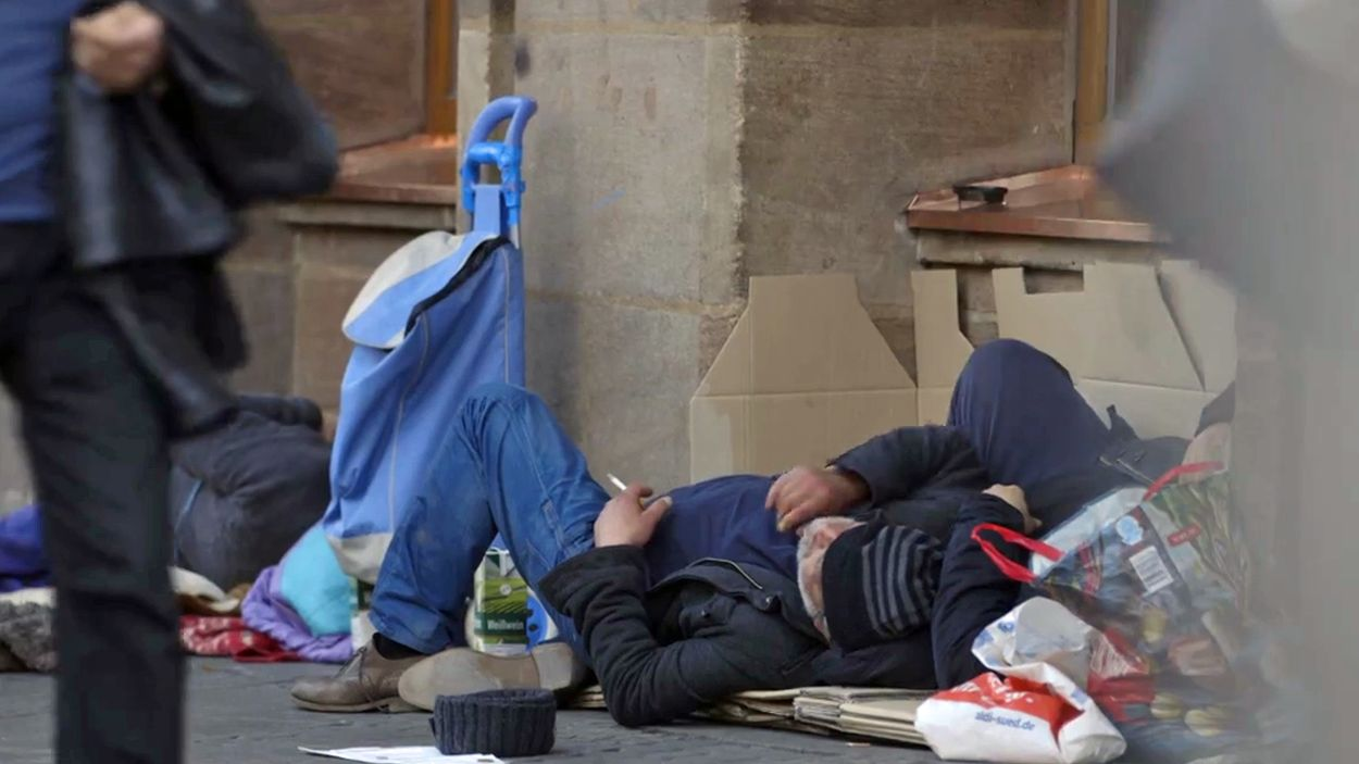 Obdachloser in Nürnberg