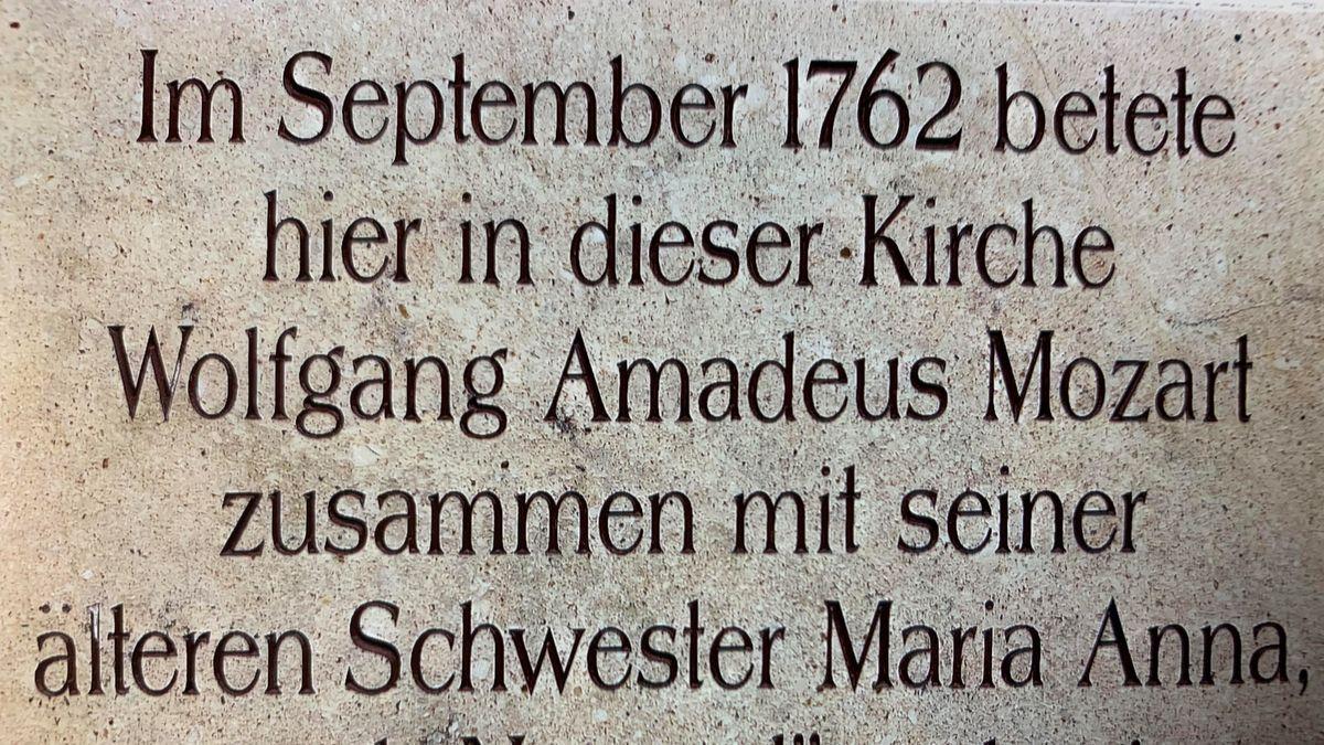 Gedenktafel für Wolfgang Amadeus Mozart in Passau