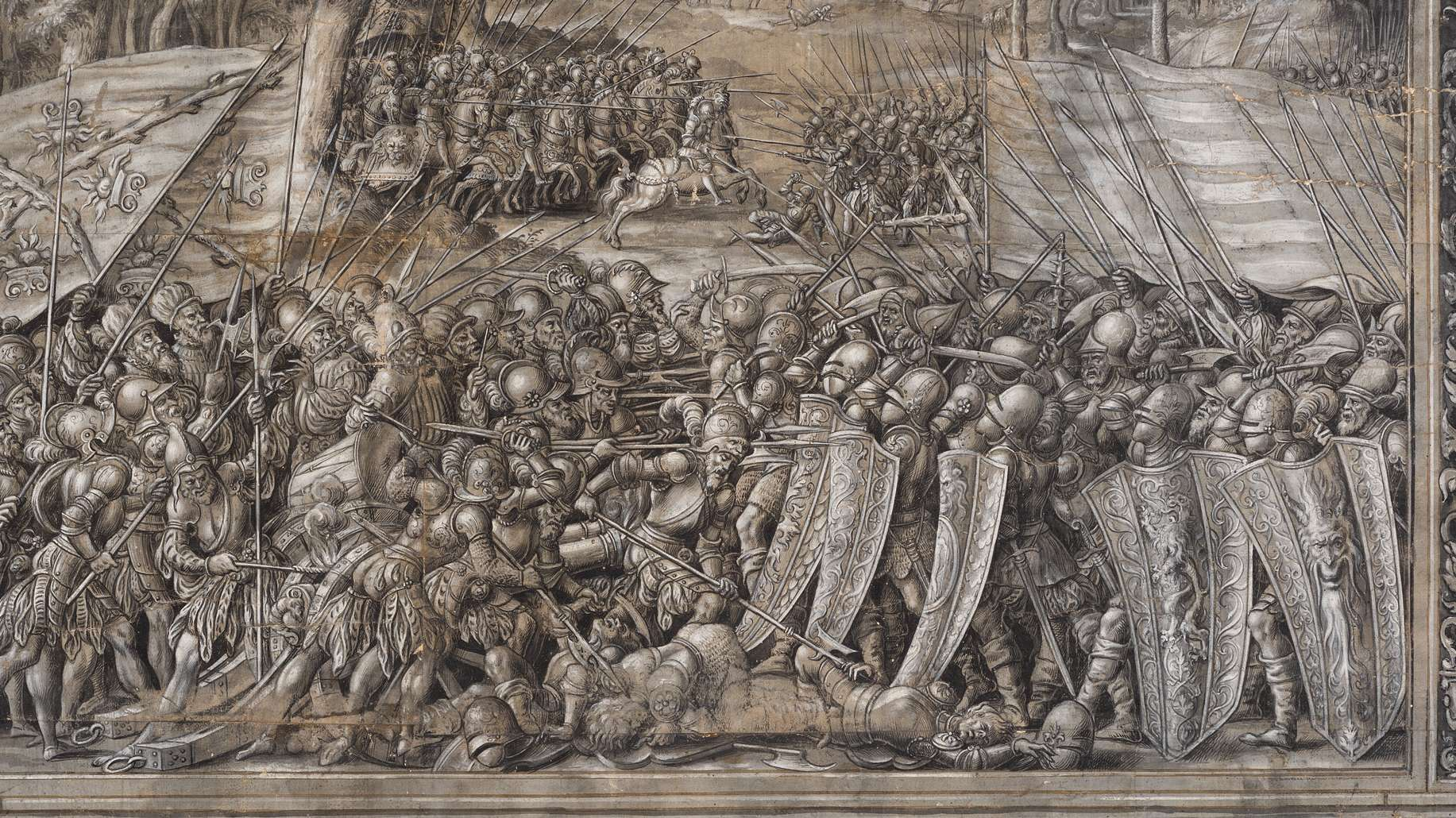 Einzelne Szene zum Kenotaph Kaiser Maximilians I. Florian Abel, Prag, 1561