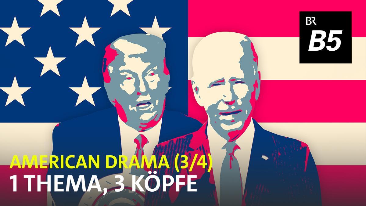 US-Präsident Trump und sein Herausforderer Biden (Grafik)