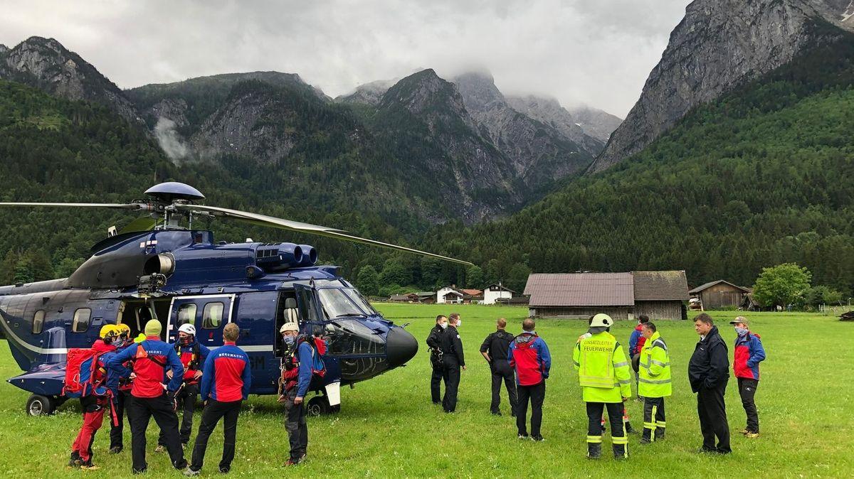 Wanderer mussten nach Katastrophenfall in Grainau ausgeflogen werden.
