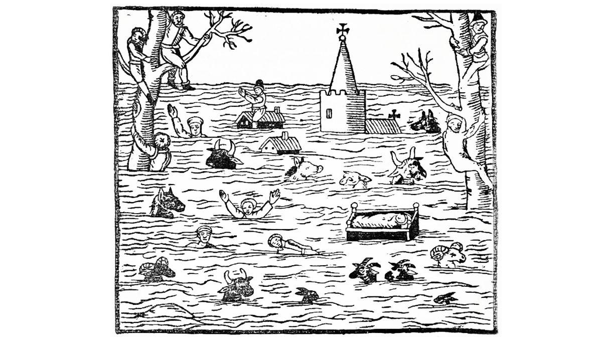 Überschwemmung in Bristol im Jahr 1607