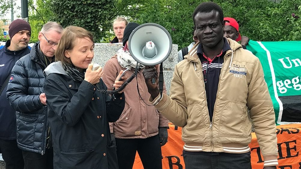 Demo vor dem Augsburger Landgericht