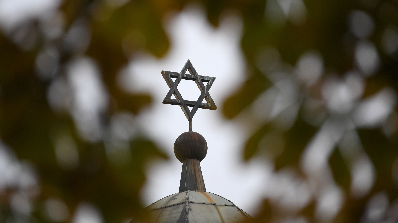 Blick auf die Synagoge in Halle/Saale.