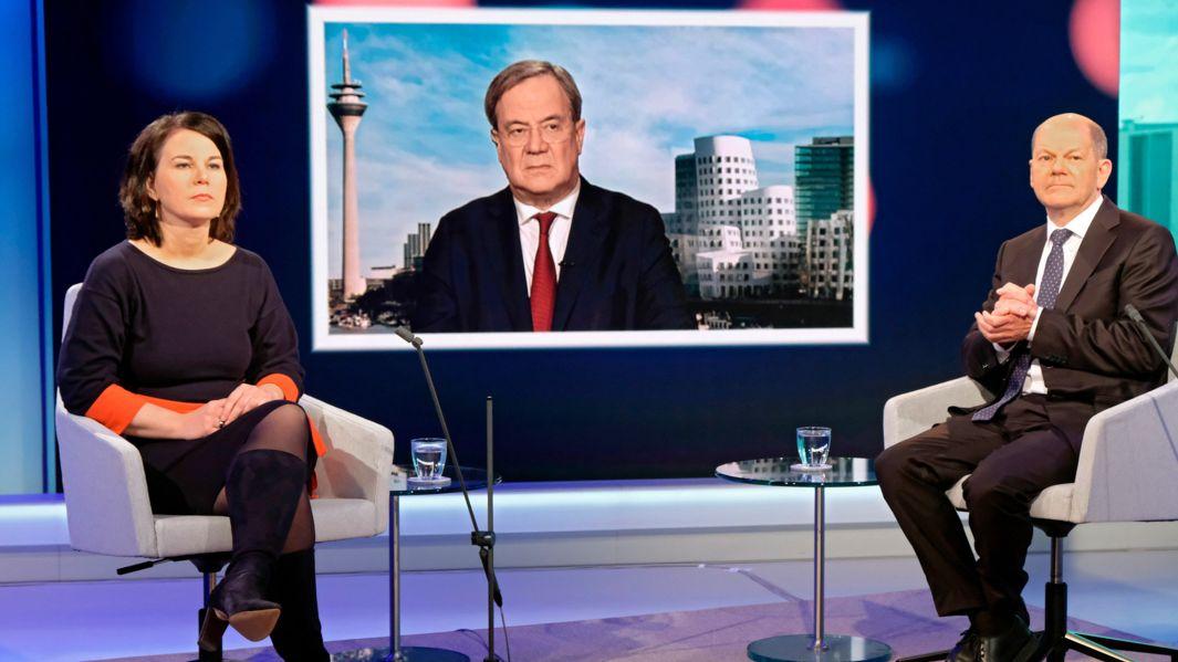 Polit-Talk mit drei Bewerbern um das Kanzleramt